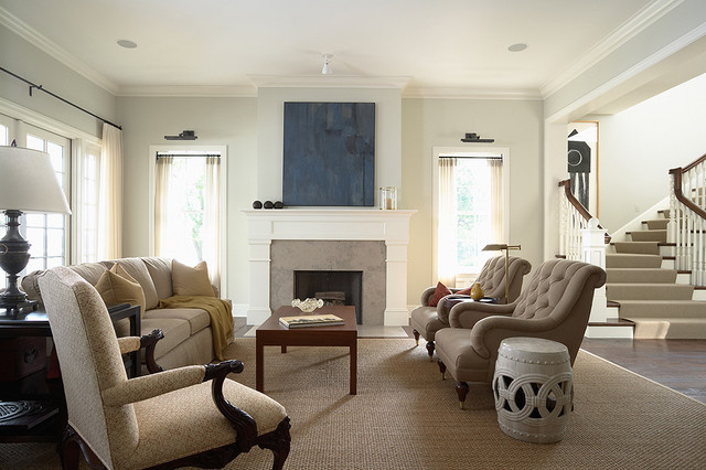 Elegant and casual Living Room with fireplace - Traditional - casual living rooms