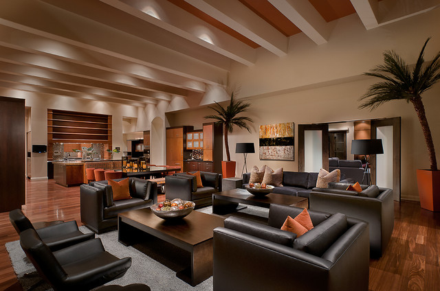 Ownby Design - Kolonialstil - Wohnzimmer - Phoenix - von Ownby Design - wohnzimmer kolonialstil