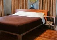 King Platform Bed with Floating Side Tables - Modern ...