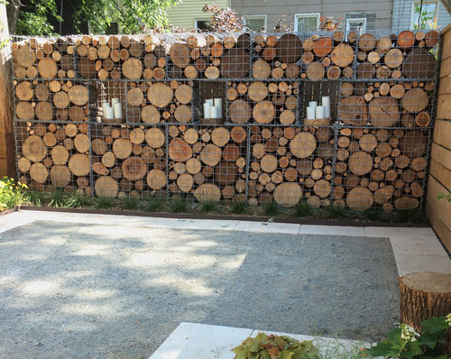 Holzstapel Bauen Gabion Wall, Baskets, And Fences How To Use Them In The Garden