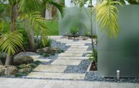 Stepping Stone walkway Miami Florida Tropical landscaping ...
