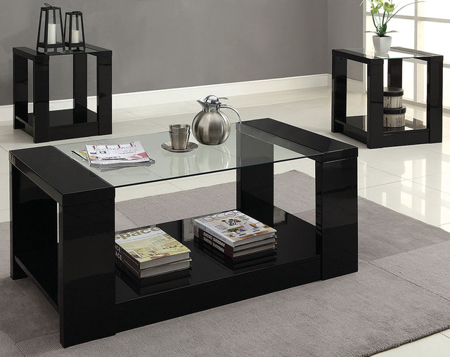 Mason 3-Piece Table Set - Modern - Living Room - Columbus - by - 3 piece living room table set