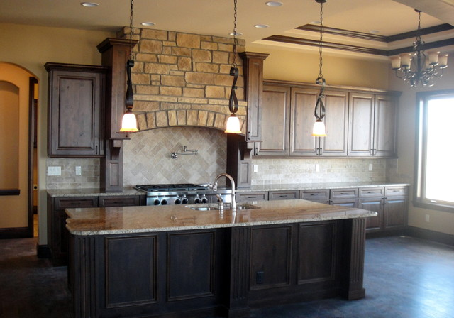 Ferguson Kitchen Cabinets Colorado Knotty Alder Kitchen - Traditional - Kitchen