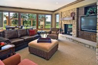 Lower Level Family Room - Traditional - Family Room ...