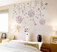 Flower Vines And Butterflies, Wall Decal, - Modern - Wall ...