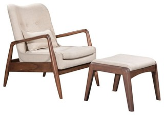 Bully Lounge Chair Ottoman Midcentury Armchairs And