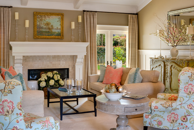 Transitional Living Room Houzz - transitional style living room