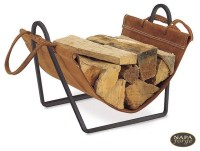 Traditions Wood Holder in Black - Traditional - Fireplace ...