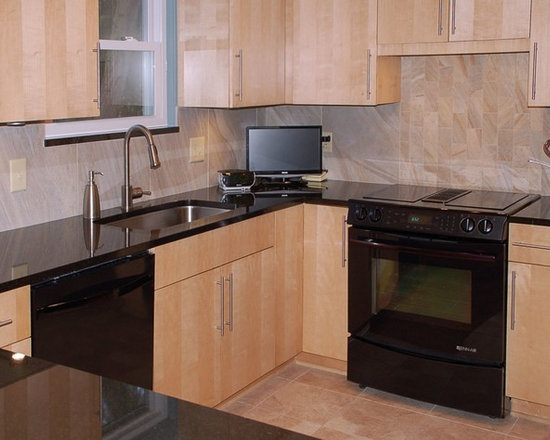 shaped kitchen design ideas remodels photos black appliances small contemporary shaped eat kitchen idea moscow flat