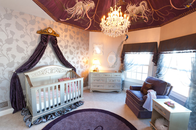 Wallpaper Ideas For Baby Girl Nursery How To Decorate Purple And Gray Baby Girl Nursery