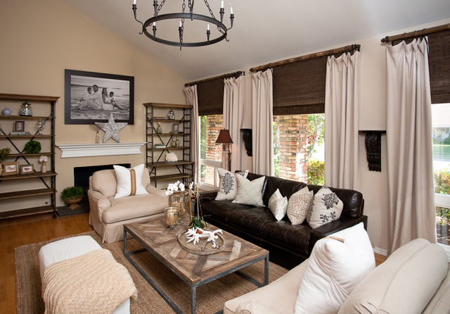 Leather Couch Living Room Houzz - houzz living room furniture