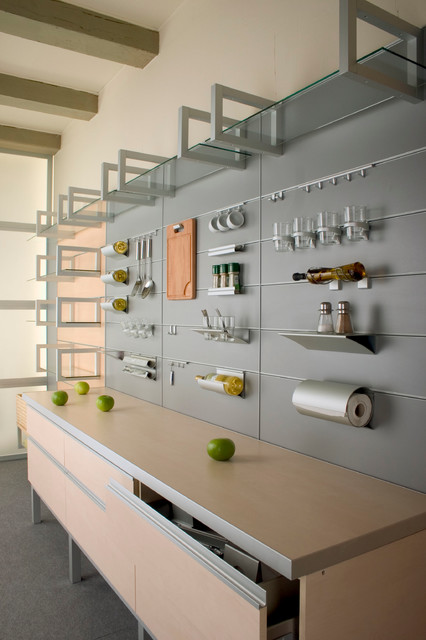 Spritzschutz Küche Mobil Aluminum Wall System With Accessories - Contemporary