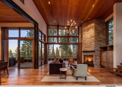 Mountain Modern Lodge - Transitional - Living Room - San ...