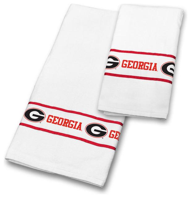 NCAA Georgia Bulldogs Towel Set College Bathroom Accessories - ncaa home office