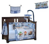 BabyFad Pirates 10-Piece Crib Bedding Set - Baby Bedding ...