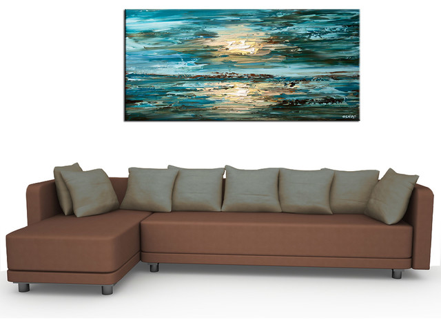 Contemporary abstract paintings - Modern - Living Room - San - art for living room