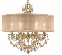 American Brass & Crystal Chandelier Exclusive for Houzz ...