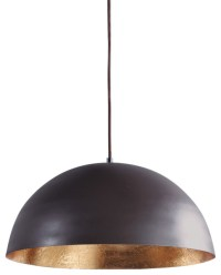 Taupe & Gold Pendant Lightshade - Contemporary - Pendant ...