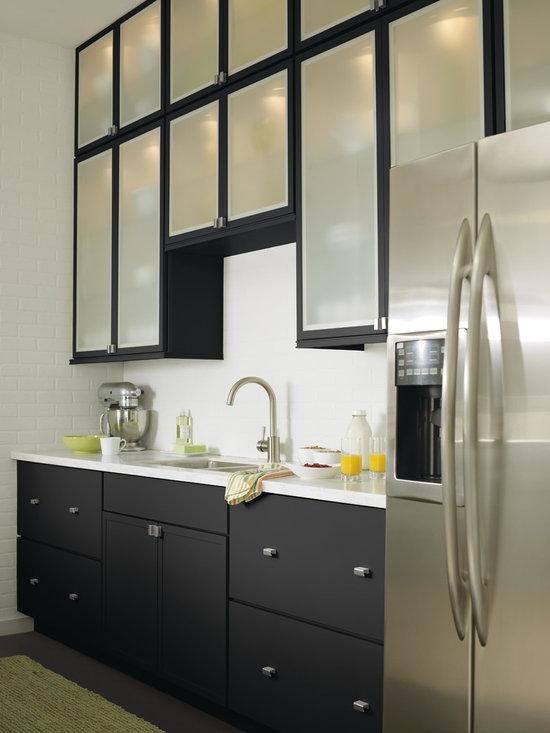 single wall eat kitchen design photos black cabinets inspiration small transitional single wall eat kitchen