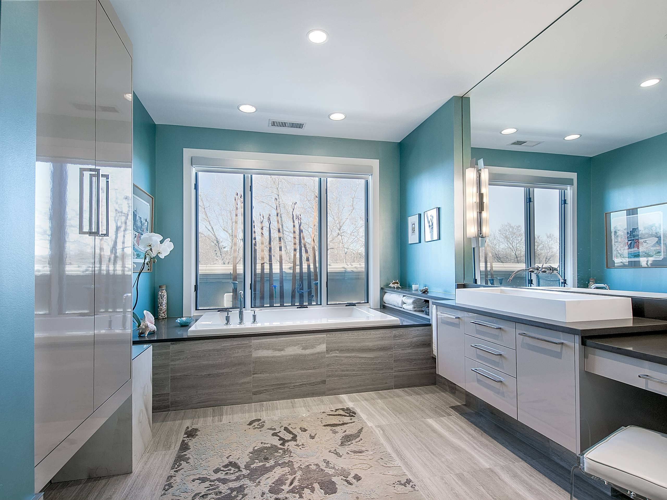Grey And Light Blue Bathroom Ideas Image Of Bathroom And Closet