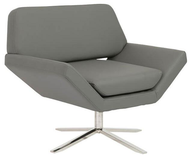Carlotta Lounge Chair Gray Steel Midcentury Armchairs