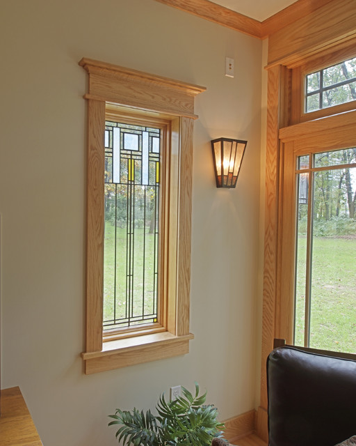 Craftsman interior window trim farmhouse with craftsman influences