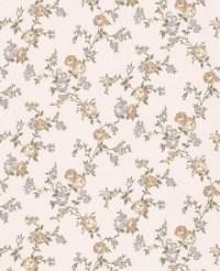 Rose Cottage Wallpaper - Cream Shimmer/Green ...