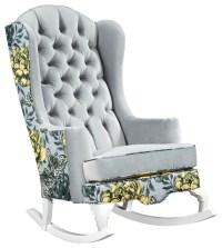 Rocker Refined - Vivan Tufted Velvet Rocking Chair ...