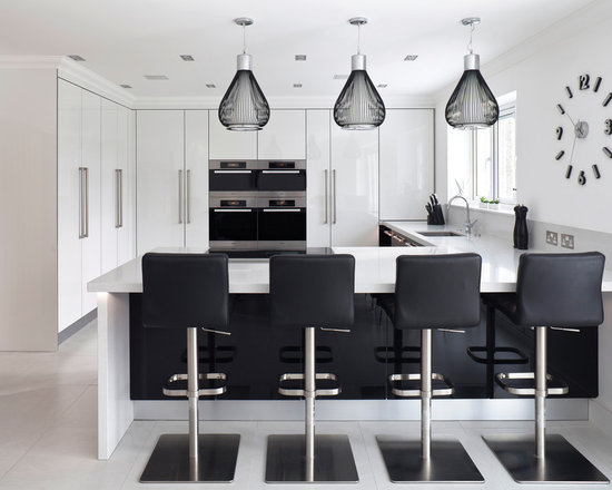 large contemporary shaped eat kitchen design photos glass small contemporary shaped eat kitchen idea moscow flat
