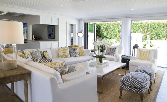 Beach House Living Room - Beach Style - Living Room - New York - living room furniture nyc
