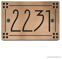 "American Craftsman Address Plaque 12"" x 8"" in Recessed ..."