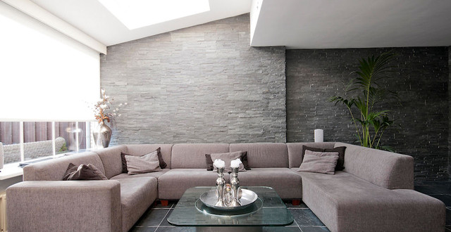 Steen Behang 3d Wall Panels - Modern - Living Room - Amsterdam - By Barroco