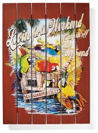 Margaritaville Livin' for the Weekend Wall Art ...