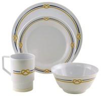 Galleyware Rope Melamine Dinnerware Gift Set - Traditional ...
