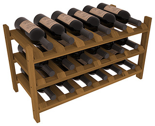 Wine Racks America 18 Bottle Stackable Wine Rack Premium