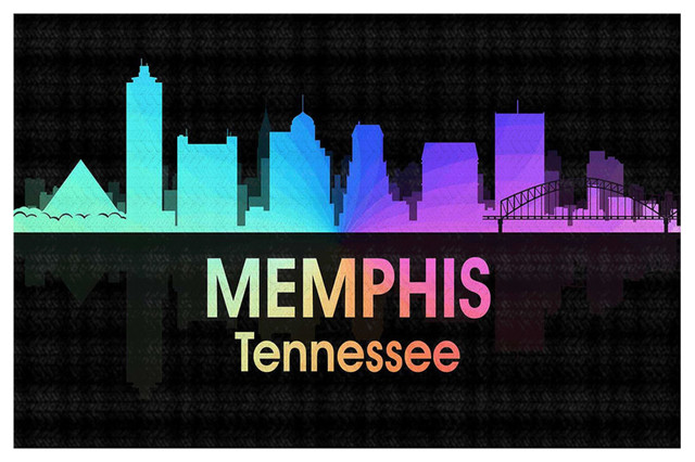 City V Memphis Tennessee Area Rug Contemporary Novelty