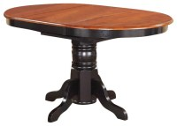 Kenley Oval Single Pedestal Oval Dining Table ...