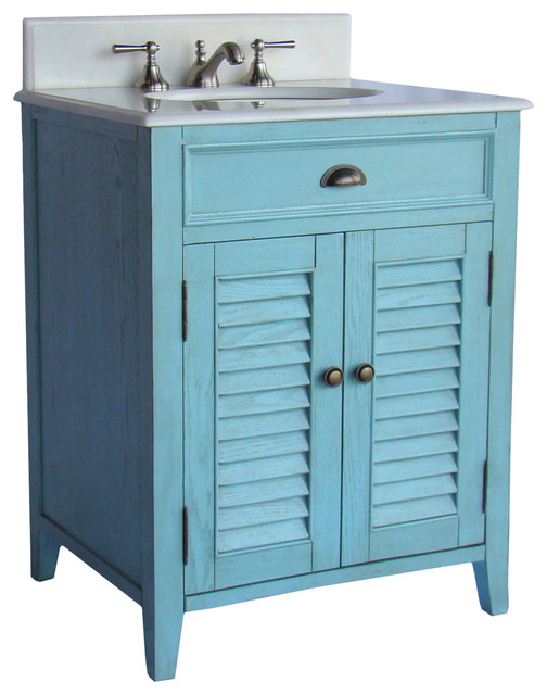"Beach Style Bathroom Vanity Abbeville 26"" Vanity Cf28323lb - Beach Style - Bathroom"