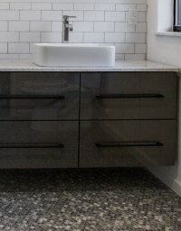 Use Ikea kitchen cabinets in bathroom