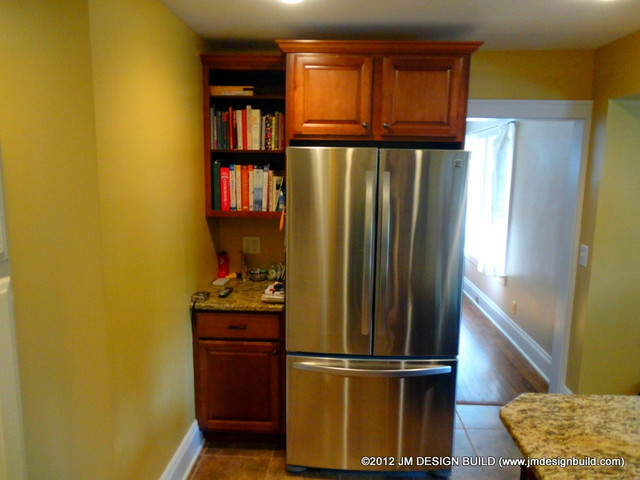 Kitchen Cabinet In Atlanta Custom Built Refrigerator Cabinets - Traditional - Kitchen