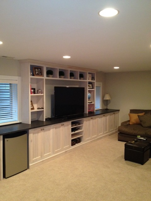 Rooms To Go Sofas For Sale Basement Entertainment Center - Traditional - Basement