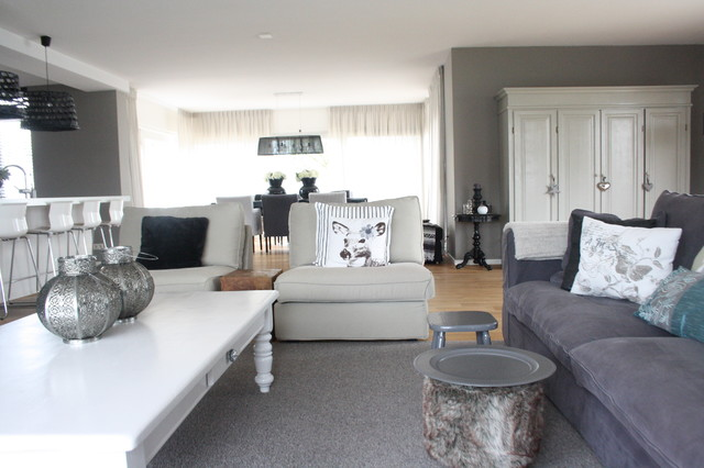 My Houzz Country Chic family home in the Netherlands - houzz living room furniture