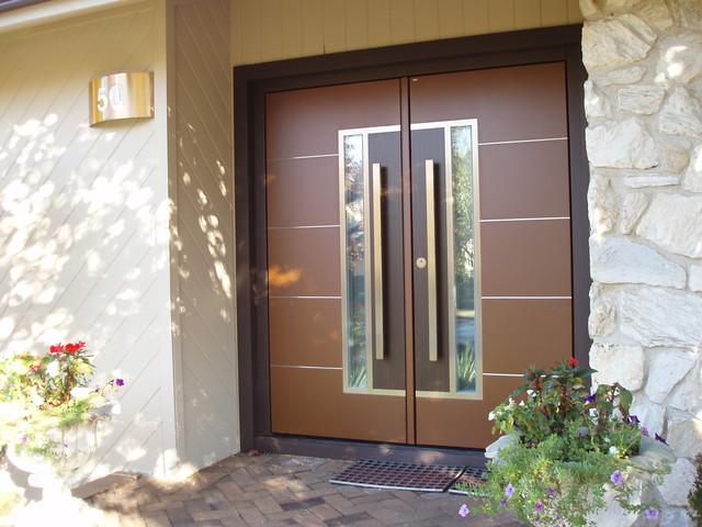European double front door