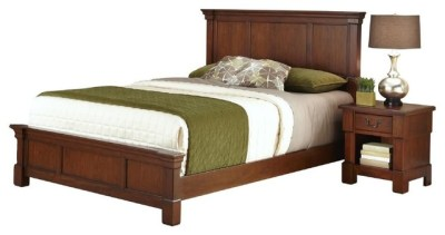 The Aspen Collection Queen Bed and Nightstand - Transitional - Bedroom Furniture Sets - by Home ...