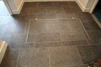 Basement floor access door electronically operated
