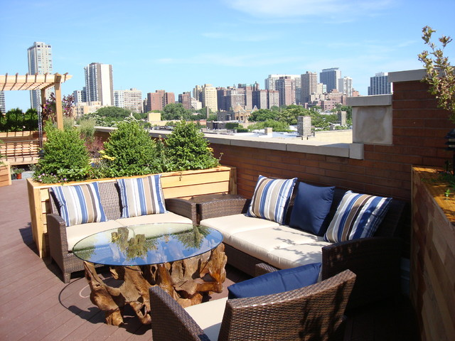 Lakeview Rooftop Deck - Modern - Patio - Chicago - By Lisa Wolfe