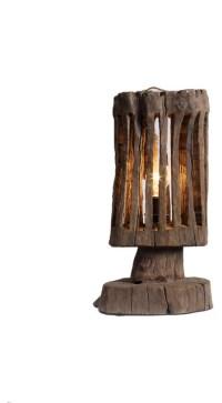 Handmade Driftwood Shade Bedside Designer Table Lamp ...