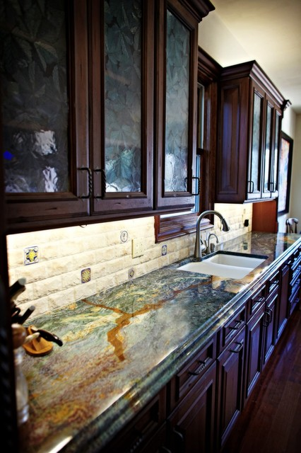 Blue Louise Granite Kitchen Counter Top Traditional