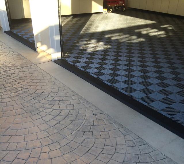 Mod My Floor Rt Garage Floor Custom Diamond Plate Ramp