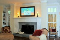 TV on - Traditional - Living Room - Dallas - by Gillis ...